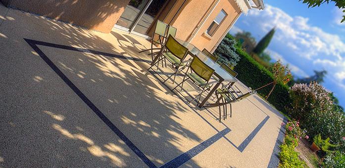 moquette de pierre partir de 20 m2 granulat de marbre et terrasse en r sine. Black Bedroom Furniture Sets. Home Design Ideas