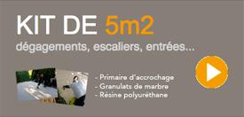 kit 5m de granulat de marbre