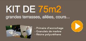kit 32m de granulat de marbre