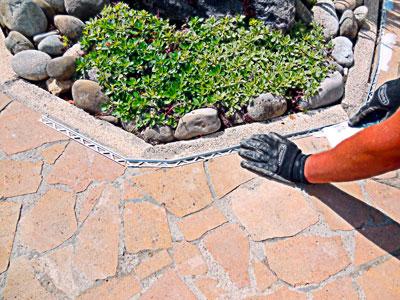 bordure moquette de pierre
