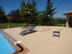 moquette de pierre de piscine