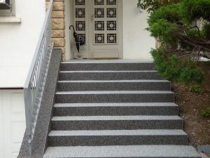 granulat de marbre escalier