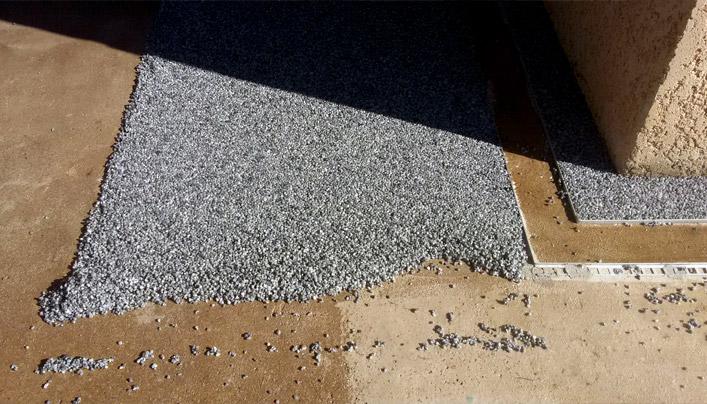 préparation chantier granulat