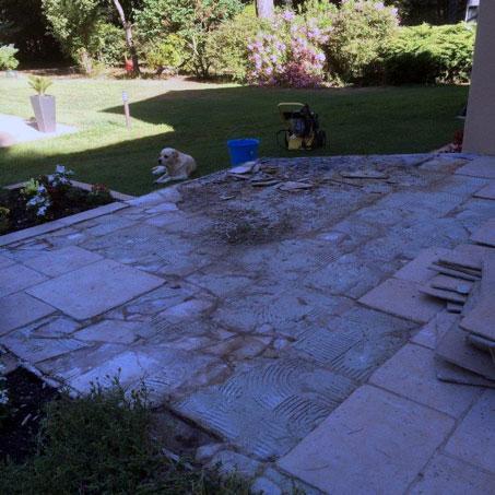 préparation moquette de pierre