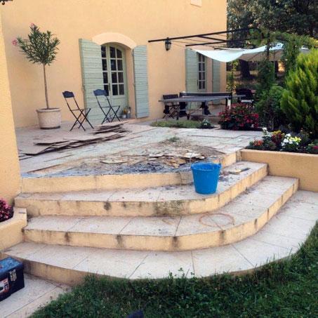 préparation terrasse résine